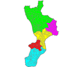 The municipalities of calabria